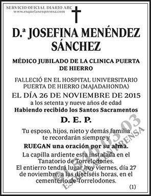 Josefina Menéndez Sánchez